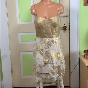 Aidan Mattox gold holiday dress size 10